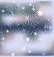 abstract winter snow background vector image vector image