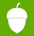 acorn icon green vector image vector image