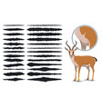 animal fur texture brush strokes design elements vector image