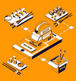 asian food isometric composition vector image vector image
