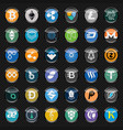 black circle icons with cryptocurrency symbols vector image