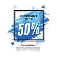 blue splash discount flyer template vector image vector image