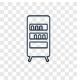 bookcase concept linear icon isolated on vector image