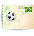 brazil soccer postcard vector image