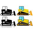 bulldozer icon set vector image vector image