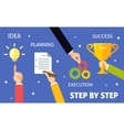 Business steps concept vector image vector image