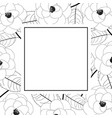 camellia flower on white banner card outline