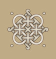 celtic knot - engraved - single chain - loops vector image vector image