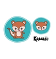chipmunk kawaii style isolated icon design vector image
