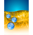 christmas decoration with blue balls vector image