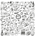 Cookery - doodles collection vector image vector image