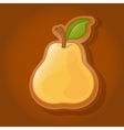 Cookies in the shape of a pear vector image vector image