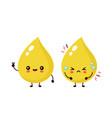 cute happy healthy smiling and sad unhealthy urine vector image vector image