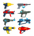 different futuristic weapons shooting guns for vector image vector image