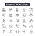 event management line icons for web and mobile vector image vector image