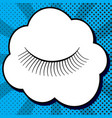 eyelashes sign black icon in bubble on vector image