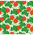 floral pattern with clover flowers vector image vector image