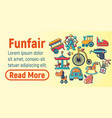 funfair concept banner cartoon style vector image vector image