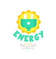 green energy solution original logo design with vector image vector image