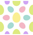 happy easter painting egg painted shell set vector image vector image