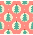 Happy New Year red pattern Flat design style vector image vector image