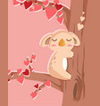 happy valentines day with koala bear in love vector image vector image
