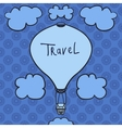 Hot air balloon design icon in the sky Flat vector image vector image