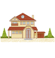 Icon of a luxury cottage isolated eps10 vector image vector image