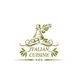 italian cuisine isolated icon of olive oil vector image vector image