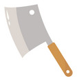 kitchen knife on white background vector image