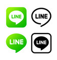 line sign green chat symbol web icon comments vector image