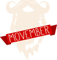 Movember vector image vector image
