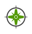 nature green compass symbol logo design vector image vector image