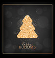 new year holiday merry christmas card with gold vector image