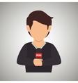 news reporter design vector image vector image