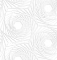 Paper white striped swirled hexagons vector image