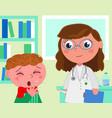 pediatrician medical office vector image vector image