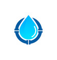 pipe water logo icon design vector image