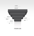 pyramid cube upside down infographic template vector image