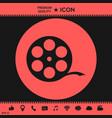 reel film symbol vector image vector image