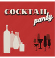 retro coctail party invitation card vector image vector image