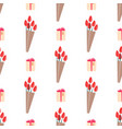 seamless pattern with tulips wrapped in paper vector image