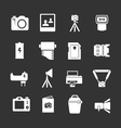 Set icons of photo vector image vector image