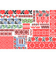 Set of 30 seamless ethnic patterns for embroidery