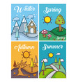 set of weather cards vector image