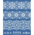 Snowflakes lace seamless borderWinter pattern vector image vector image