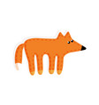 sticker fox fluffy tail toy vector image