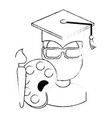 student graduated with paint brush and pallette vector image vector image