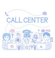 support call center vector image