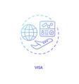 visa concept icon vector image